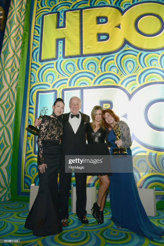Nancy Lesser, <a gi-track='captionPersonalityLinkClicked' href=/galleries/search?phrase=Jerry+Weintraub&family=editorial&specificpeople=212833 ng-click='$event.stopPropagation()'>Jerry Weintraub</a>, Jody Weintraub and Susan Ekins attend HBO's official Emmy after party at The Plaza at the Pacific Design Center on September 22, 2013 in Los Angeles, California.