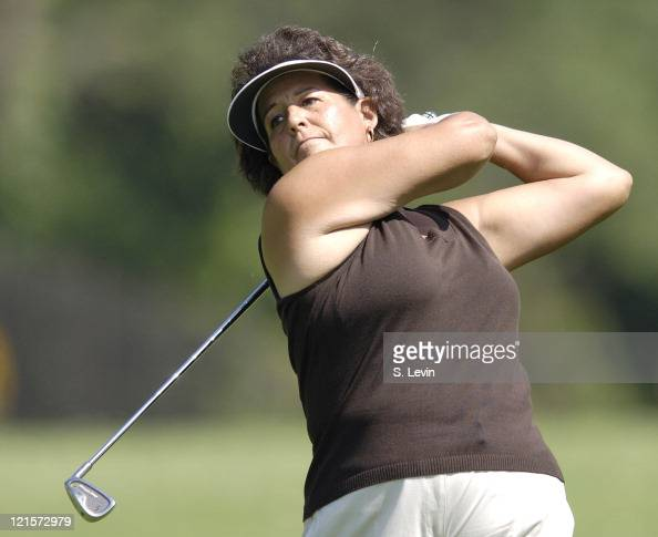 Nancy Lopez during the continuation of the second round of the Jamie Farr Owens Corning Classic at Highland Meadows Golf Club in Sylvania Ohio on...