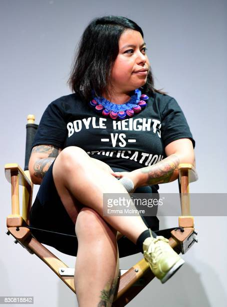 Nancy Meza of Defend Boyle Heights speaks onstage at 2017 Sundance NEXT FEST at The Theater at The Ace Hotel on August 12 2017 in Los Angeles...