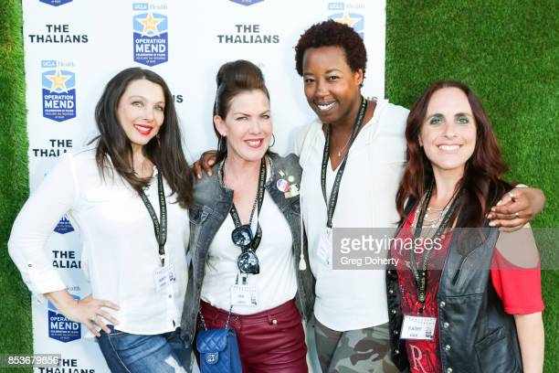 Nancy O'Brien Kira Reed Lorsch Nicole McClinton and Kathy Eads attend the UCLA Operation Mend 10 Year Anniversary at the Home of Founder Ron Katz...