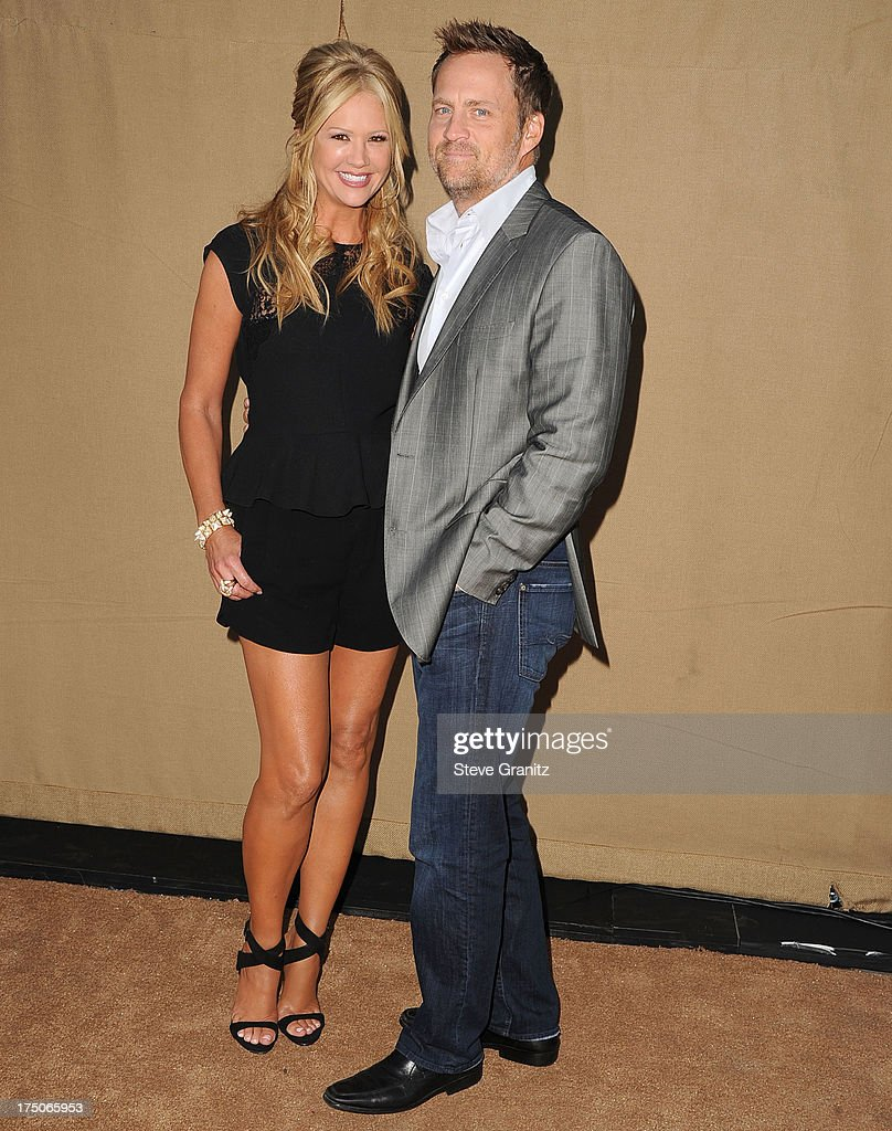 Nancy O'Dell and Keith Zubulevich arrives at the Television Critic Association's Summer Press Tour - CBS/CW/Showtime Party at 9900 Wilshire Blvd on July 29, 2013 in Beverly Hills, California.