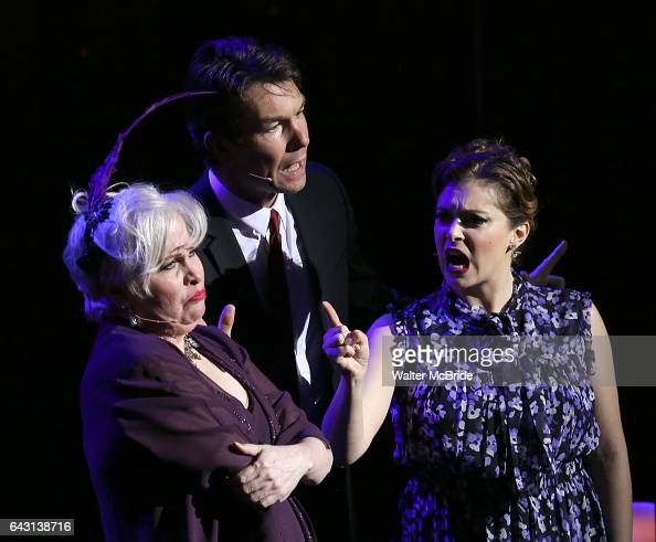 Nancy Opel Jerry O' Connell and Rachel Bloom during the Manhattan Concert Productions 25th Anniversary concert performance of 'Crazy for You' at...