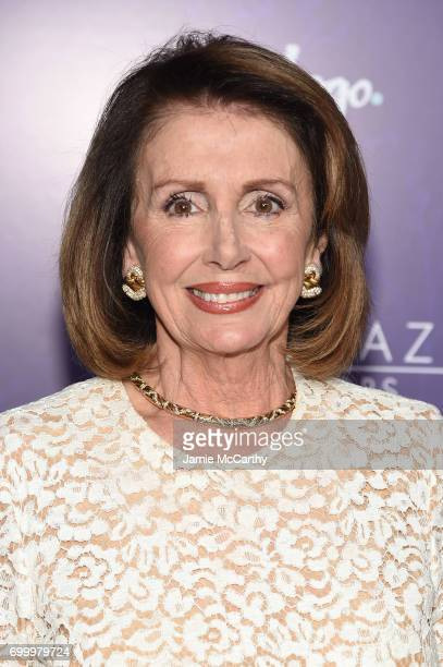 Nancy Pelosi attends the Logo's 2017 Trailblazer Honors event at Cathedral of St John the Divine on June 22 2017 in New York City
