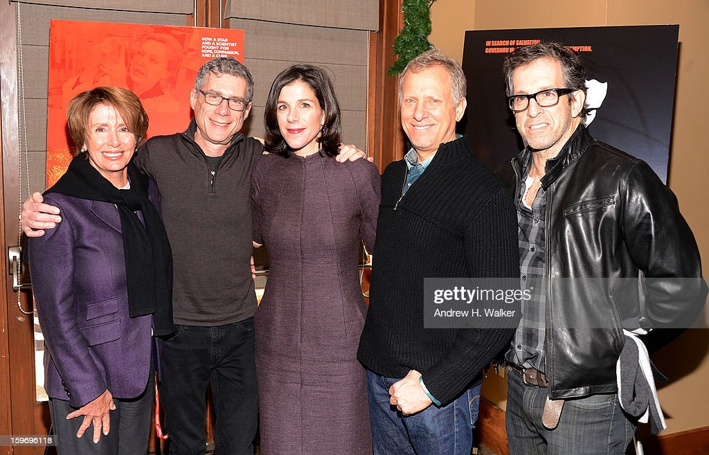 Nancy Pelosi, director Jeffrey Friedman, director Alexandra Pelosi, director Rob Epstein and Kenneth Cole attend the 'Fall To Grace' and 'The Battle Of AMFAR' Brunch hosted by HBO on January 18, 2013 in Park City, Utah.