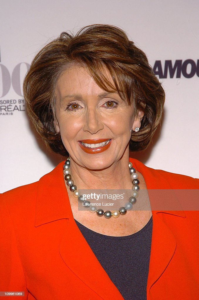 Nancy Pelosi during Glamour Magazine Salutes The 2004 Women of the Year - Arrivals at American Museum of Natural History in New York City, New York, United States.