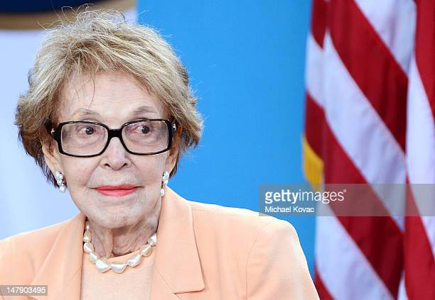 Nancy Reagan attends The Grand Opening of D23 Presents Treasures of The Walt Disney Archives on July 5 2012 in Simi Valley California