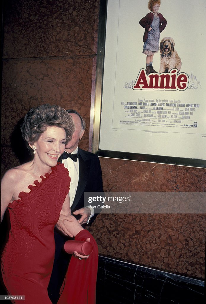Nancy Reagan during Premiere of 'Annie' at Radio City Music Hall in New York City NY United States