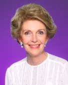 Nancy Reagan poses for a portrait in 1980 in Los Angeles California