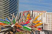 Nancy Rubin's 'Big Edge' sculpture at CityCenter.