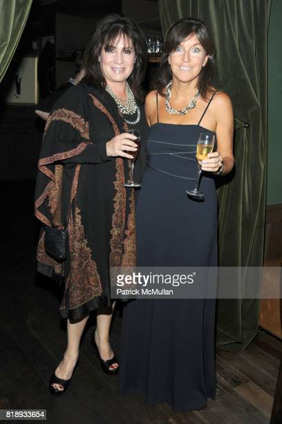 Nancy Sandig and Connie Cavalier attend MOET CHANDON Toast MICHAEL PATRICK KING at Hotel Griffou on May 23 2010 in New York City