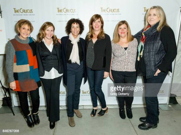 Nancy Schreiber Stephanie Allain Kirsten Schaffer Davah Avena and Betty Thomas attend The Caucus For Producers Writers And Directors And WIF Present...