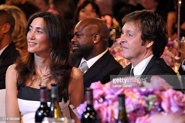 Nancy Shevell and Paul McCartney attend the 2009 GRAMMY Salute To Industry Icons honoring Clive Davis at the Beverly Hilton Hotel on February 7 2009...