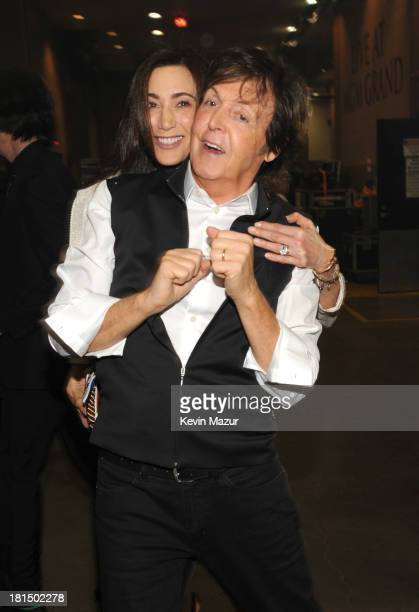 Nancy Shevell and Paul McCartney attend the iHeartRadio Music Festival at the MGM Grand Garden Arena on September 20 2013 in Las Vegas Nevada