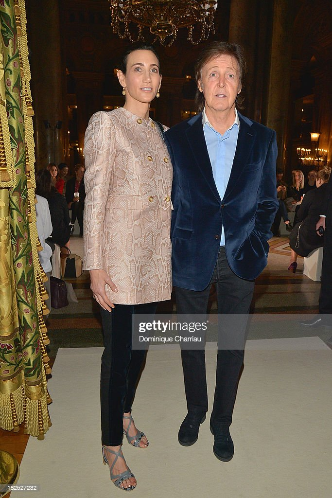 Nancy Shevell and Paul McCartney attend the Stella McCartney show as part of the Paris Fashion Week Womenswear Spring/Summer 2014 on September 30, 2013 in Paris, France.