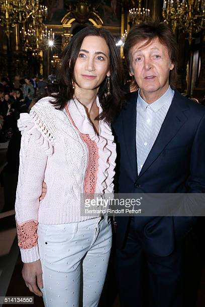 Nancy Shevell and Paul McCartney attend the Stella McCartney show as part of the Paris Fashion Week Womenswear Fall/Winter 2016/2017 Held at Grand...