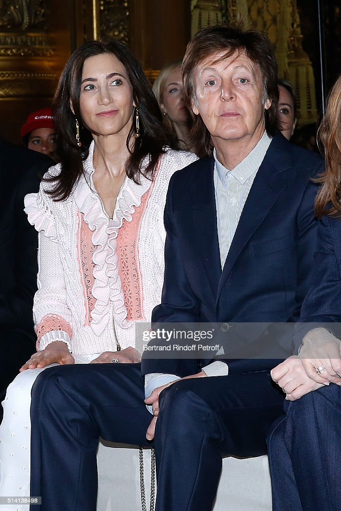 Nancy Shevell and Paul McCartney attend the Stella McCartney show as part of the Paris Fashion Week Womenswear Fall/Winter 2016/2017. Held at Opera Garnier on March 7, 2016 in Paris, France.
