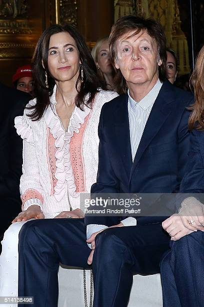 Nancy Shevell and Paul McCartney attend the Stella McCartney show as part of the Paris Fashion Week Womenswear Fall/Winter 2016/2017 Held at Opera...