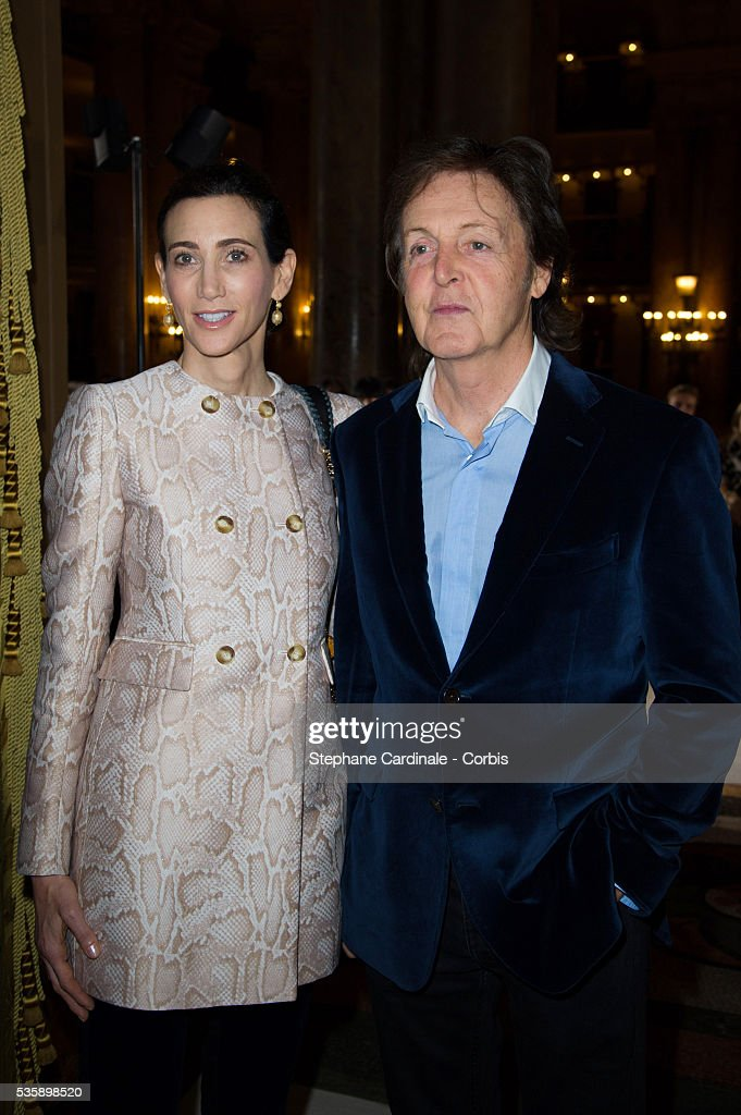 Nancy Shevell and Paul McCartney attends Stella McCartney show, as part of the Paris Fashion Week Womenswear Spring/Summer 2014, at the Opera Garnier in Paris.