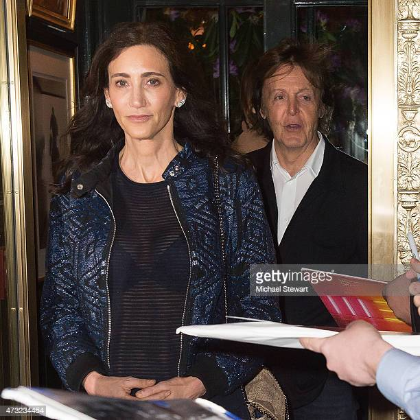 Nancy Shevell and singer Paul McCartney seen on the streets of Manhattan on May 13 2015 in New York City