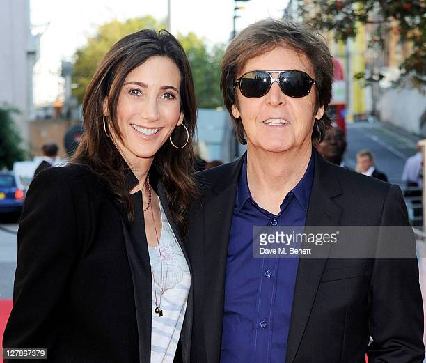Nancy Shevell and Sir Paul McCartney arrive at the UK Premiere of 'George Harrison Living In The Material World' at BFI Southbank on October 2 2011...