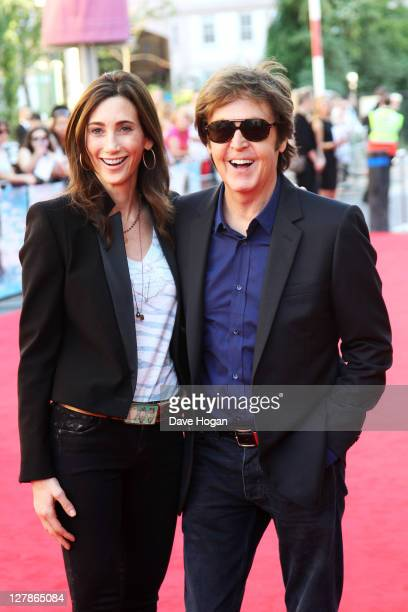 Nancy Shevell and Sir Paul McCartney attend the UK premiere of George Harrison Living In The Material World at The BFI Southbank on October 2 2011 in...