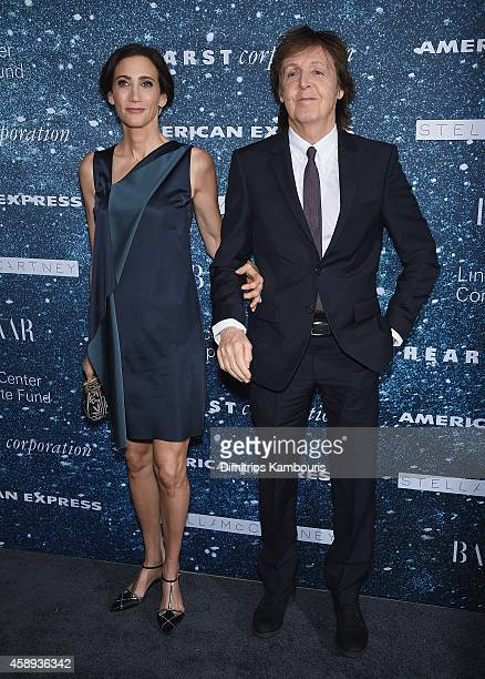 Nancy Shevell and Sir Paul McCartney attend2014 Women's Leadership Award Honoring Stella McCartney at Alice Tully Hall at Lincoln Center on November...