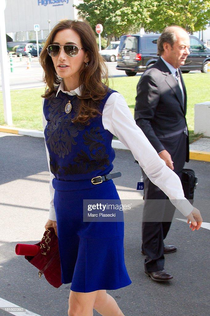 Nancy Shevell arrives at Aeroport du Bourget after the 'officier de la legion d'honneur' medal ceremony for Sir Paul McCartney at Palais de l'Elysee...