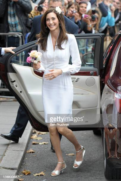 Nancy Shevell arrives at Marylebone Registry Office for her civil ceremony marriage to Sir Paul McCartney on October 9 2011 in London England