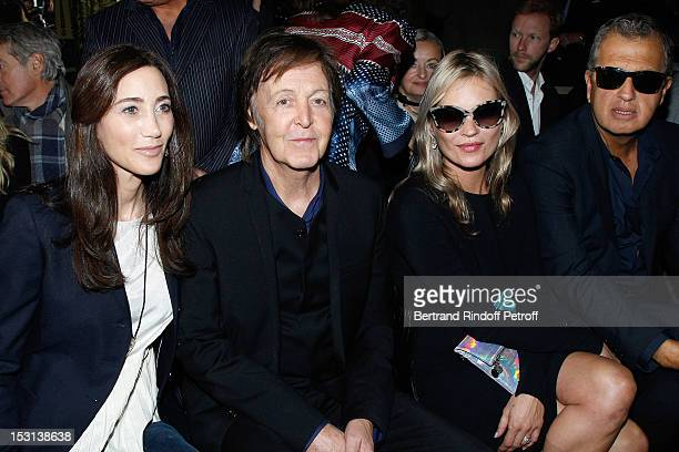 Nancy Shevell Paul McCartney Kate Moss and Mario Testino attend the Stella McCartney Spring / Summer 2013 show as part of Paris Fashion Week on...