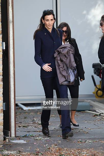 Nancy Shevell seen leaving the home she shares with Paul McCartney on October 7 2011 in London England
