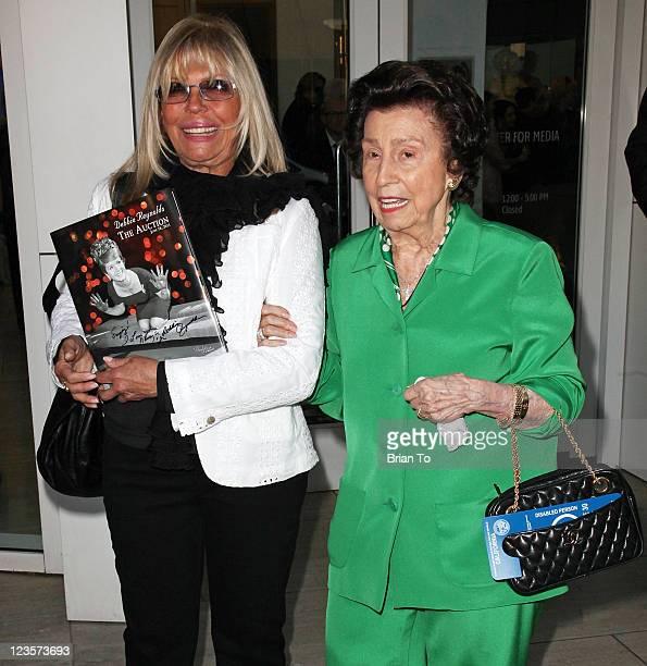 Nancy Sinatra and mother Nancy Sinatra Sr attend Paley Center TCM present Debbie Reynolds' Hollywood memorabilia exhibit reception at The Paley...