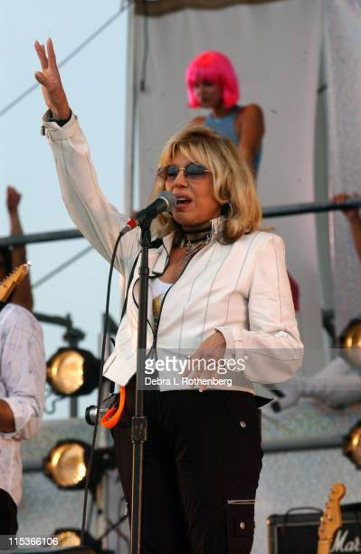 Nancy Sinatra during Little Steven's Underground Garage Festival Presented by Dunkin' Donuts Show August 14 2004 at Randall's Island in New York City...