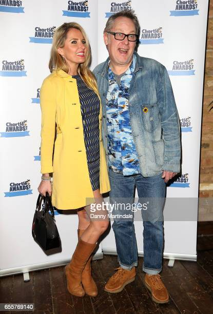 Nancy Sorrell and Vic Reeves attends the Chortle Comedy Awards 2017 on March 20 2017 in London United Kingdom