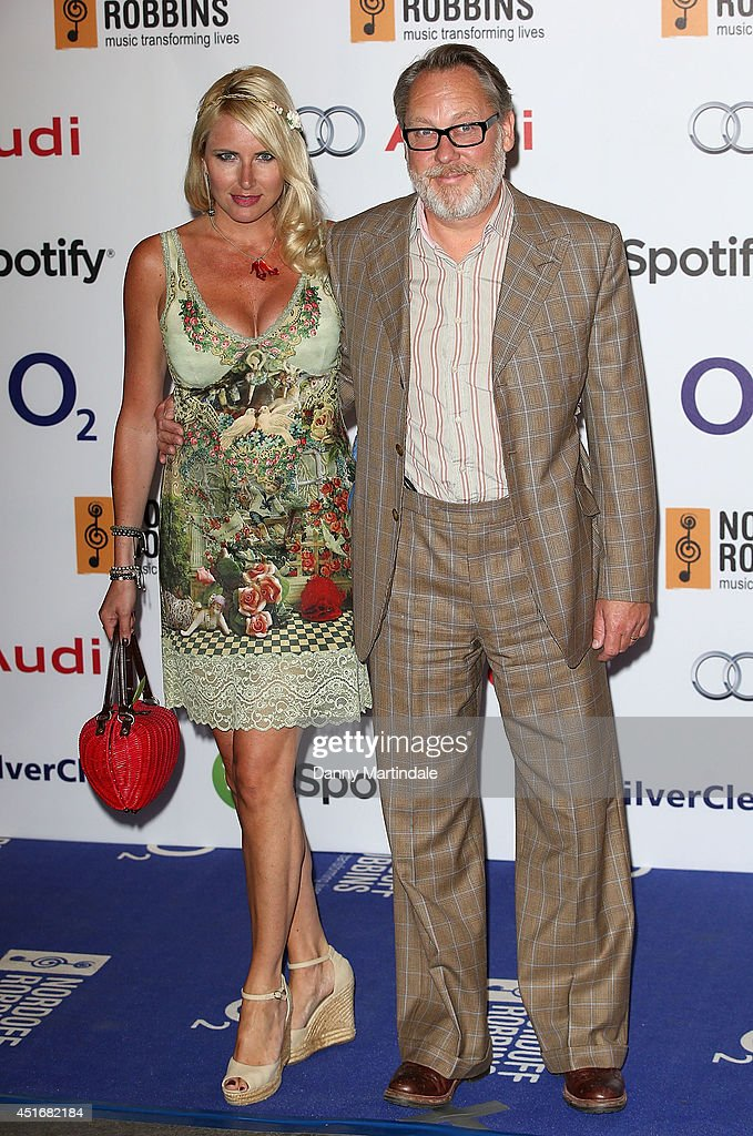 Nancy Sorrell and Vic Reeves attends the Nordoff Robbins 02 Silver Clef awards at London Hilton on July 4 2014 in London England