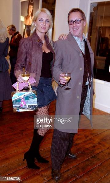 Nancy Sorrell and Vic Reeves during Bob Carlos Clarke Private View at Eyestorm in London Great Britain