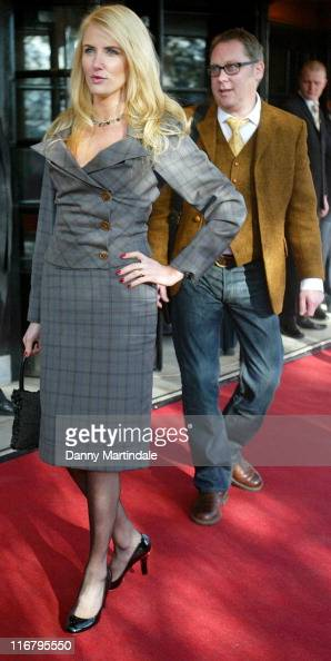 Nancy Sorrell and Vic Reeves during South Bank Show Awards 2007 at The Savoy in London Great Britain