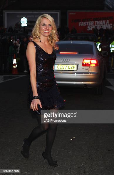 Nancy Sorrell arrives at the The Brit Awards 2008 Audi Arrivals at Earls Court on February 20 2008 in London England