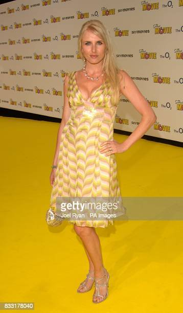 Nancy Sorrell arrives for the UK Premiere of The Simpsons Movie at the Vue Cinema The O2 Peninsula Square London