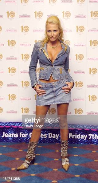 Nancy Sorrell during From High Street to Haute Couture Jeans for Genes Fashion Show Arrivals at InterContinental Hotel in London Great Britain
