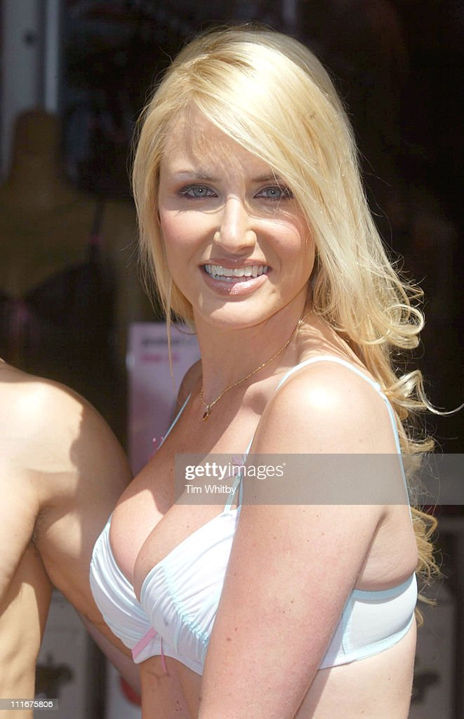 Nancy Sorrell during Nancy Sorrell Helps Launch the 'Check his Plums' Campaign at Anne Summers Oxford Street in London Great Britain