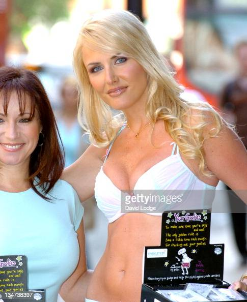 Nancy Sorrell during Nancy Sorrell Helps to Launch the 'Check His Plums' Campaign at Anne Summers Oxford Street in London United Kingdom