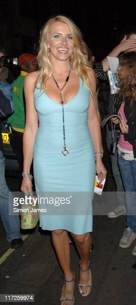Nancy Sorrell during 'You Me and Dupree' Charity Premiere Aftershow Party Outside Arrivals at Floridita in London Great Britain