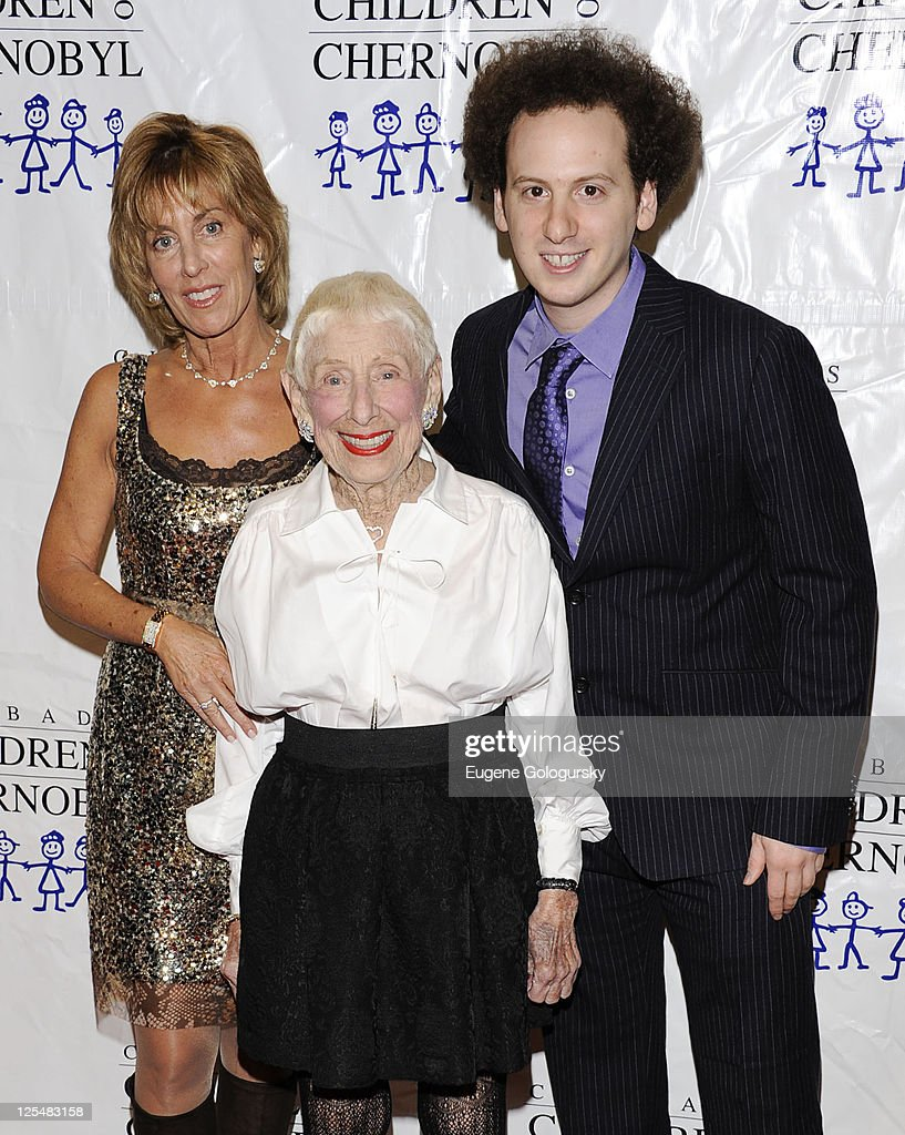 Nancy Spielberg Leah Adler and Josh Sussman attend Chabad's Children of Chernobyl Children at Heart gala at Pier 60 on November 22 2010 in New York...