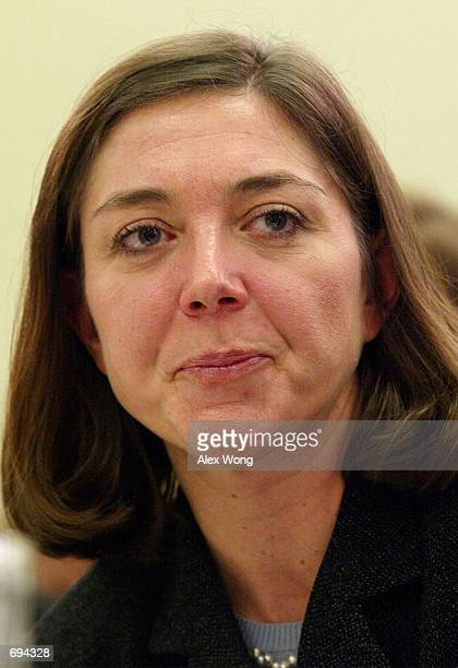 Nancy Temple attorney for Arthur Andersen testifies January 24 2002 during a hearing on the destruction of Enronrelated documents by Andersen...