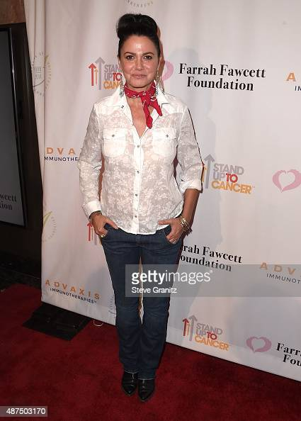 Nancy valen arrives at the farrah fawcett foundation presents 1st