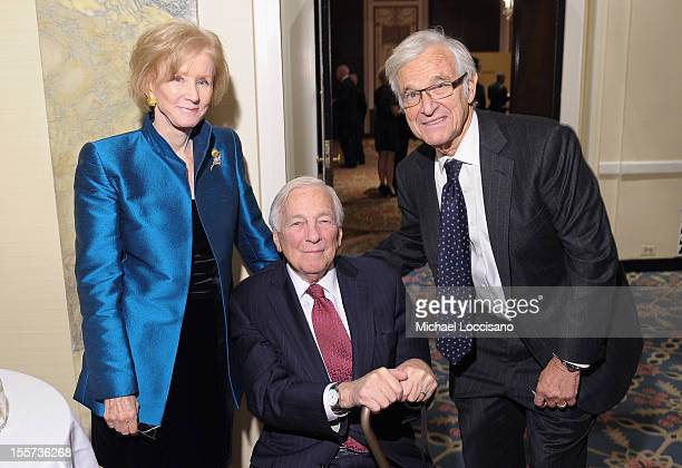 Nancy Whitehead Honoree John C Whitehead and Alan Patricof attend the annual Freedom Award Benefit hosted by the International Rescue Committee at...