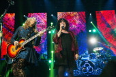 Nancy Wilson and Ann Wilson of Heart and drummer Jason Bonham of the Led Zeppelin Experience perform during the Bumbershoot Music Festival at Seattle...