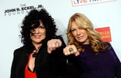 Nancy Wilson and Ann Wilson of Heart attend the Elton John AIDS Foundation's 12th Annual An Enduring Vision Benefit at Cipriani Wall Street on...