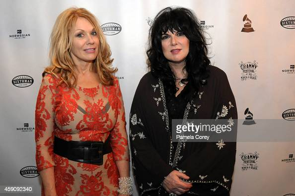 Nancy Wilson and Ann Wilson of Heart attend the Grammy Festival at Sea Women Who Rock on November 5 2014 in Miami Florida