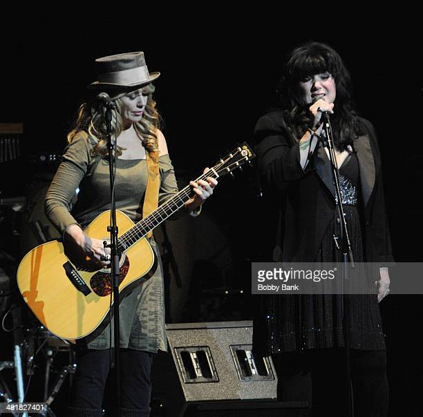 Nancy Wilson and Ann Wilson of Heart attends The Music of Paul Simon at Carnegie Hall on March 31 2014 in New York City